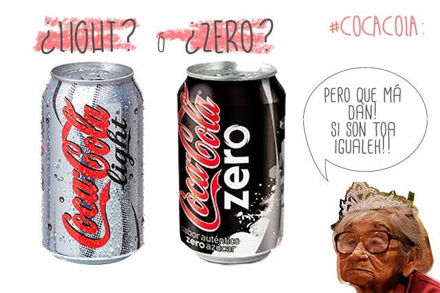 cocacola light vs coca cola zero