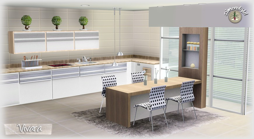 My sims 3 blog vivara kitchen by simcredible designs for Sims 3 kitchen designs