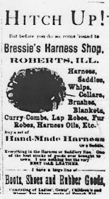 Bressie's Harness Shop 1887 Ad