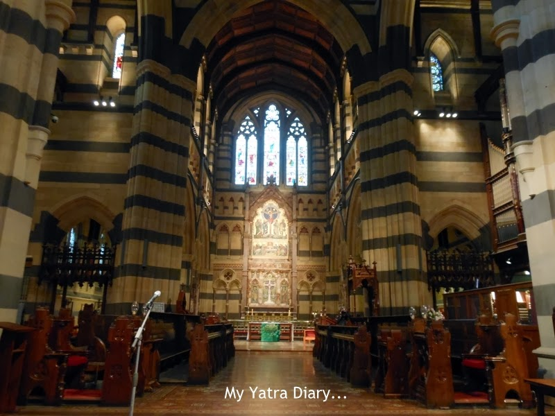 The altar - St. Paul's church cathedral in Melbourne, Australia
