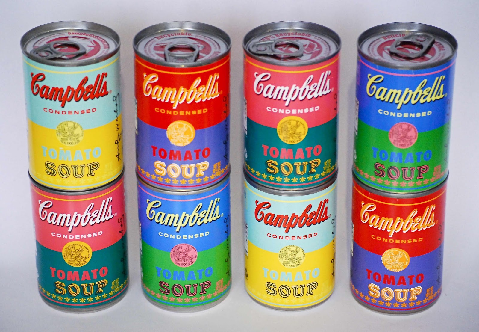 andy warhol 32 campbell soup cans A set of 32 decks from artist andy warholl  andy warhol's 32 campbell's soup cans  andy warhol coloured campbell's soup yellow.