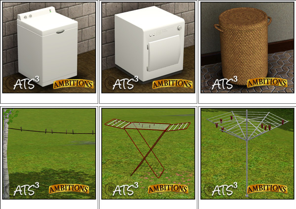 empire sims 3 laundry set by sandy