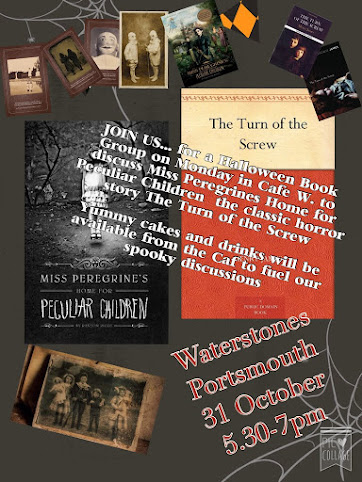 PORTSMOUTH WATERSTONES HALLOWEEN Book Group: October 31st, 5.30-7pm CLICK image for info
