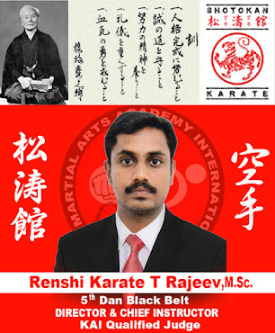 Founder Of KTR Martial Arts Academy International, HQ Kanyakumari District, Tamilnadu
