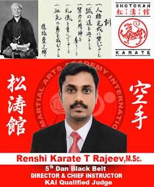 Founder Of KTR Martial Arts Academy International, HQ Kanyakumari District, Tamilnadu