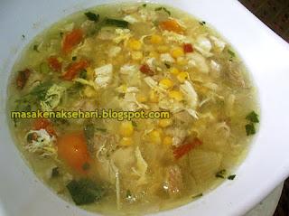 Resep Sup Jagung Manis Telur Setengah Kental