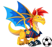 dragon futbolista adulto