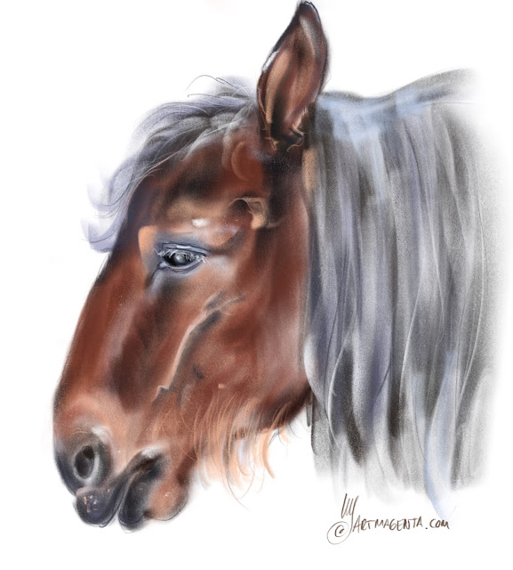Horse head painting by Artmagenta