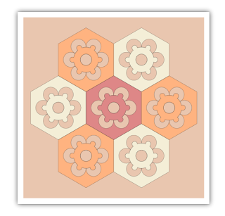 patchwork flower free hand embroidery pattern