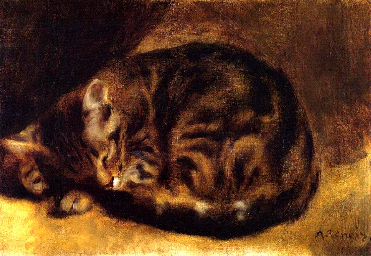Sleeping Cat Pierre-Auguste Renoir