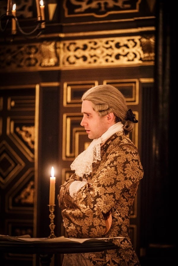 Sam Crane - Farinelli and the King - Sam Wanamaker Playhouse - photo Marc Brenner