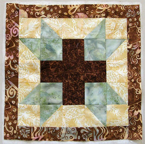 Aurifil July Block at Freemotion by the River