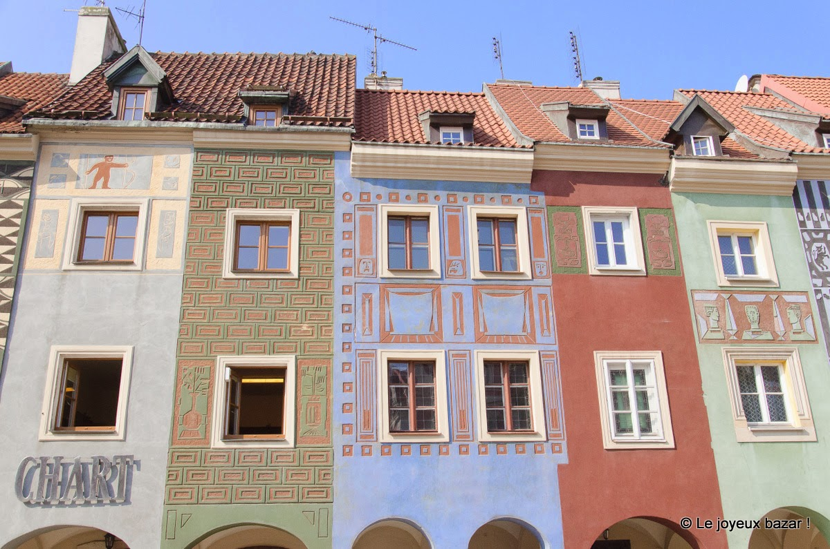 Poznan - façades colorées