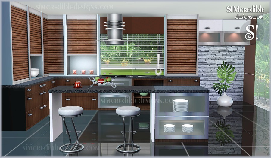 my sims 3 blog concordia kitchen set by simcredible designs. Black Bedroom Furniture Sets. Home Design Ideas