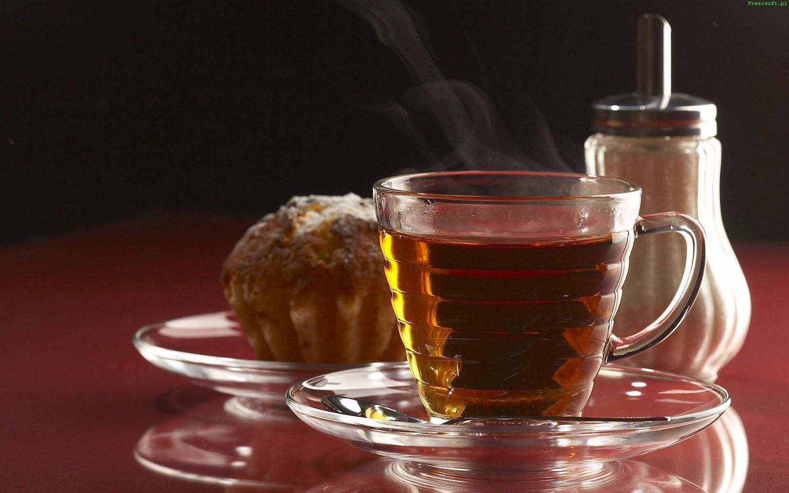 good morning with red tea