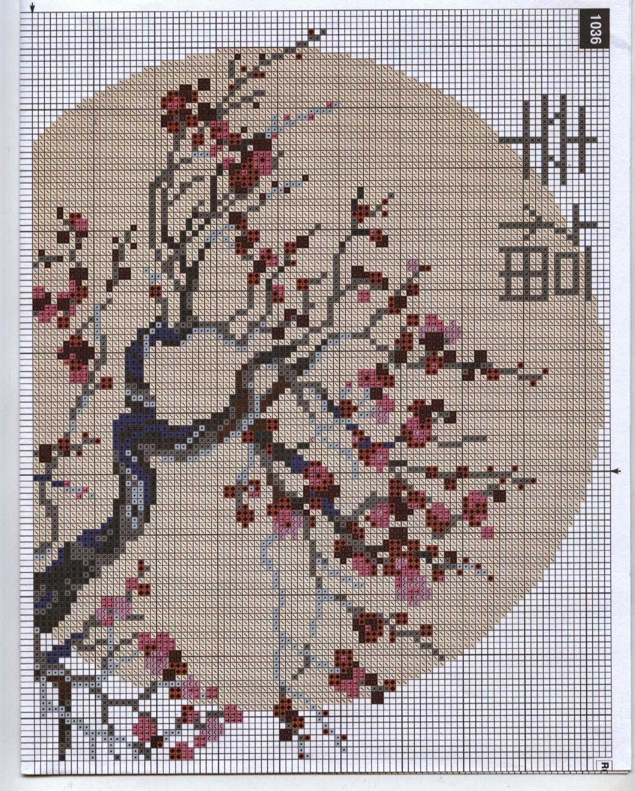 Бесплатные схемы для вышивки крестом сакура