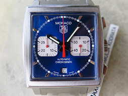 TAG HEUER MONACO CHRONOGRAPH BLUE DIAL STEVE MCQUEEN - BRACELET - AUTOMATIC- FULLSET BOX AND PAPERS