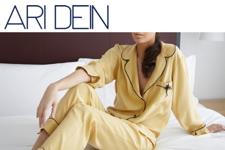 luxury lingerie, designer lingerie, luxury loungewear, ARI DEIN, silk pajamas