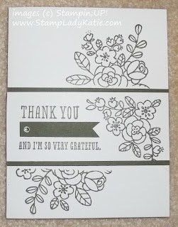 Card made with the flower images from Stampin'UP!'s So Very Grateful Stamp Set