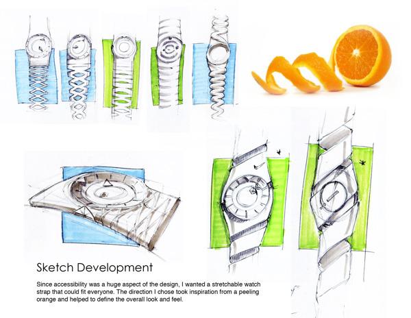 Diseño de reloj prototipo de Nike.