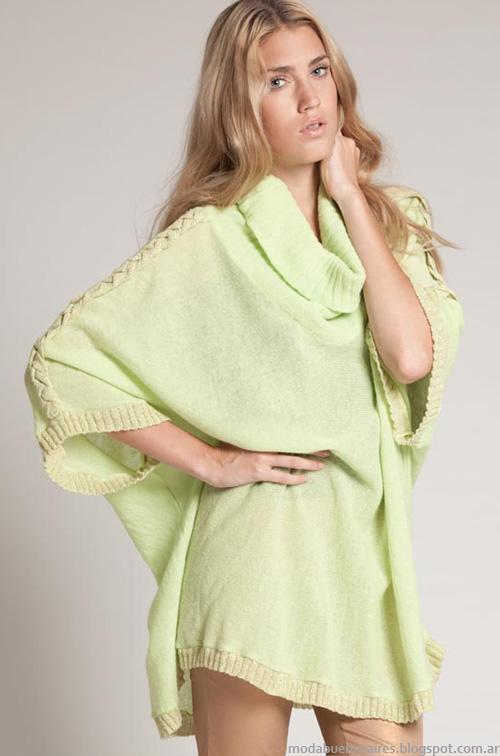 Sacos tejidos invierno 2013 moda Agostina Bianchi