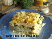 Zapekané cestoviny s brokolicou a kukuricou - recept