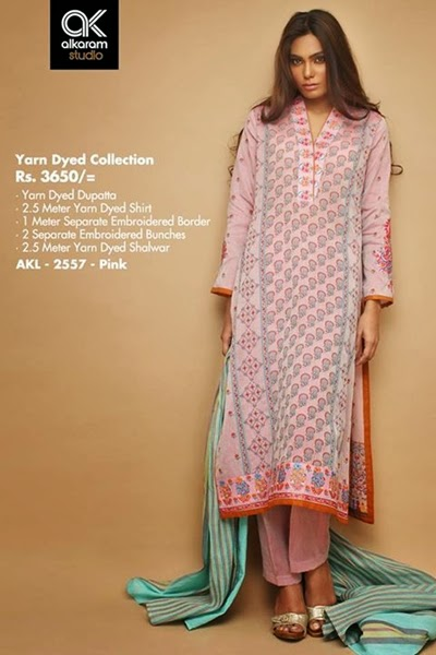 Alkaram Yarn Dyed Rangoli Collection 2014