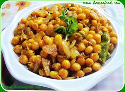 Spicy White Peas Stir Fry - Batani Masala