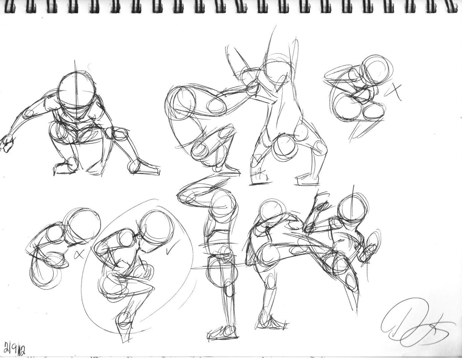 djs animation blog  gesture drawings