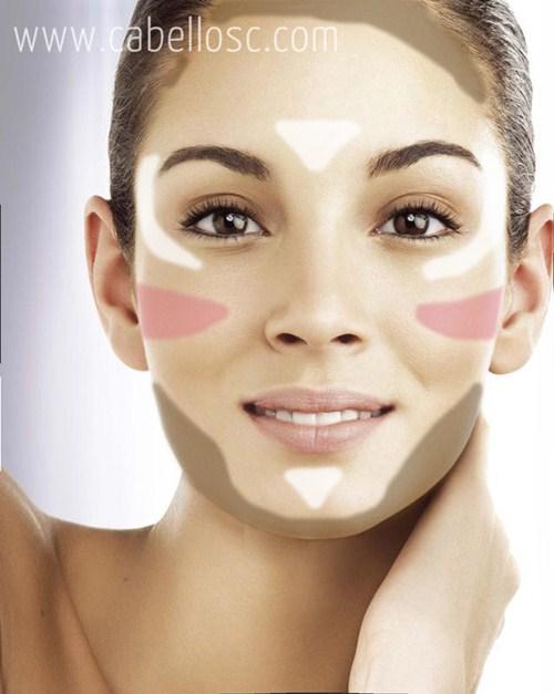 maquillaje para caras largas