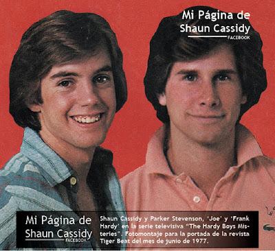 SHAUN CASSIDY Y PARKER STEVENSON  1977Shaun Cassidy And David Cassidy