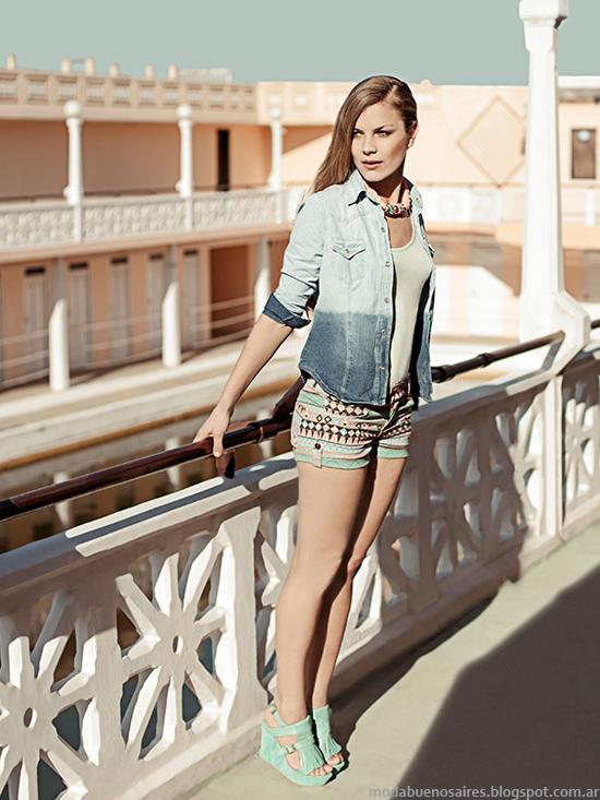 Indumentaria femenina moda verano 2014 Oshum.