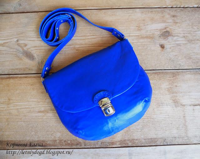 маленькая кожаная женская сумочка