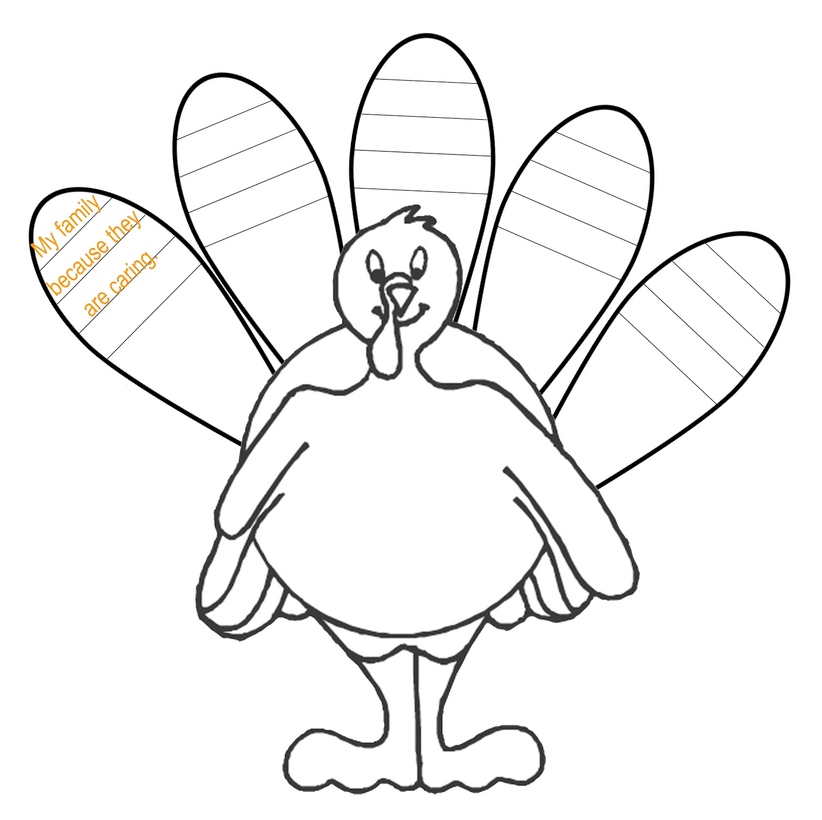 It's just a picture of Transformative Turkey Outline Printable