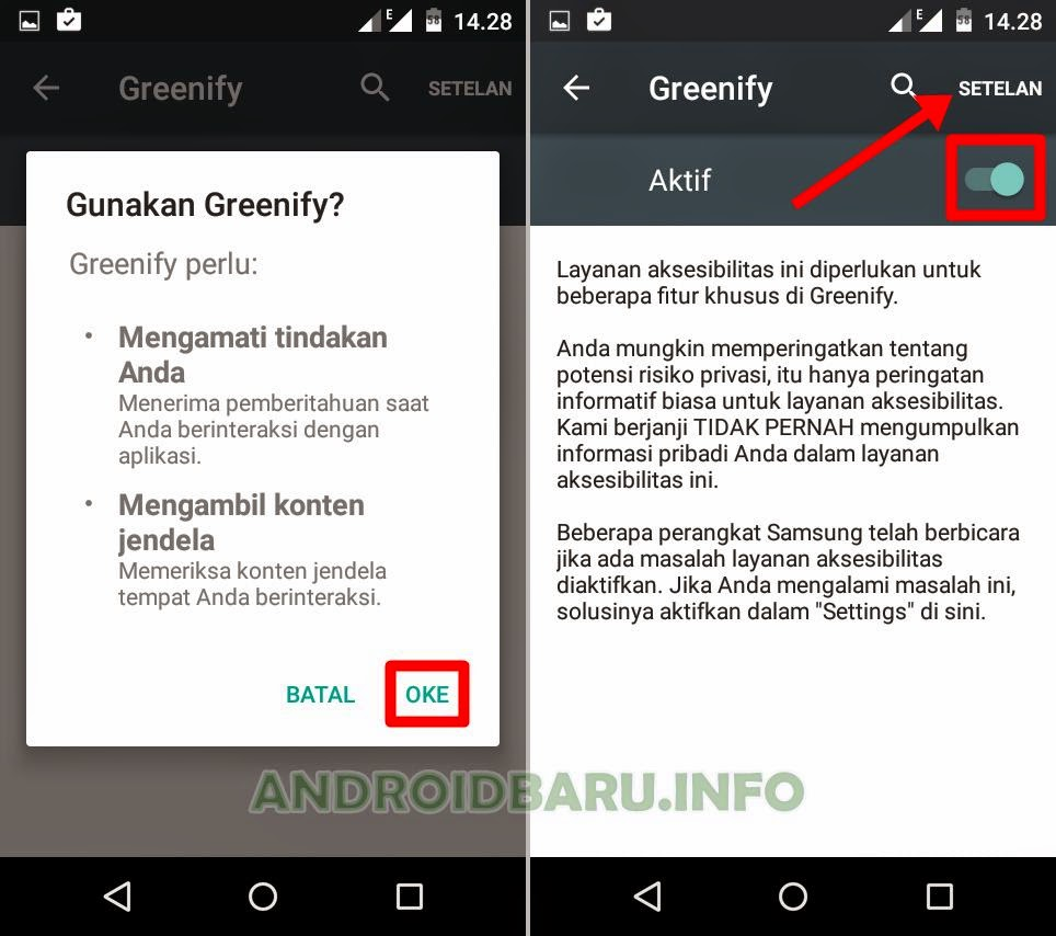 Cara Setelan Greenify Android No Root Auto Matic Hibernation