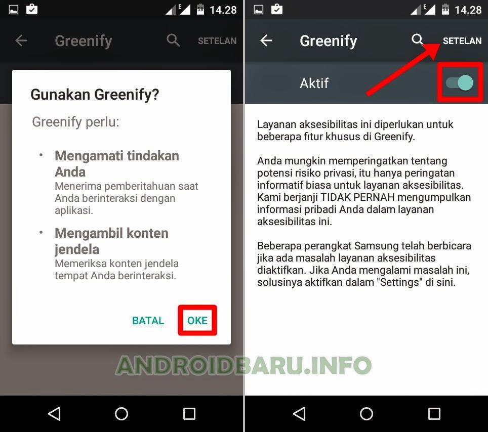 Cara Freeze Apk Android