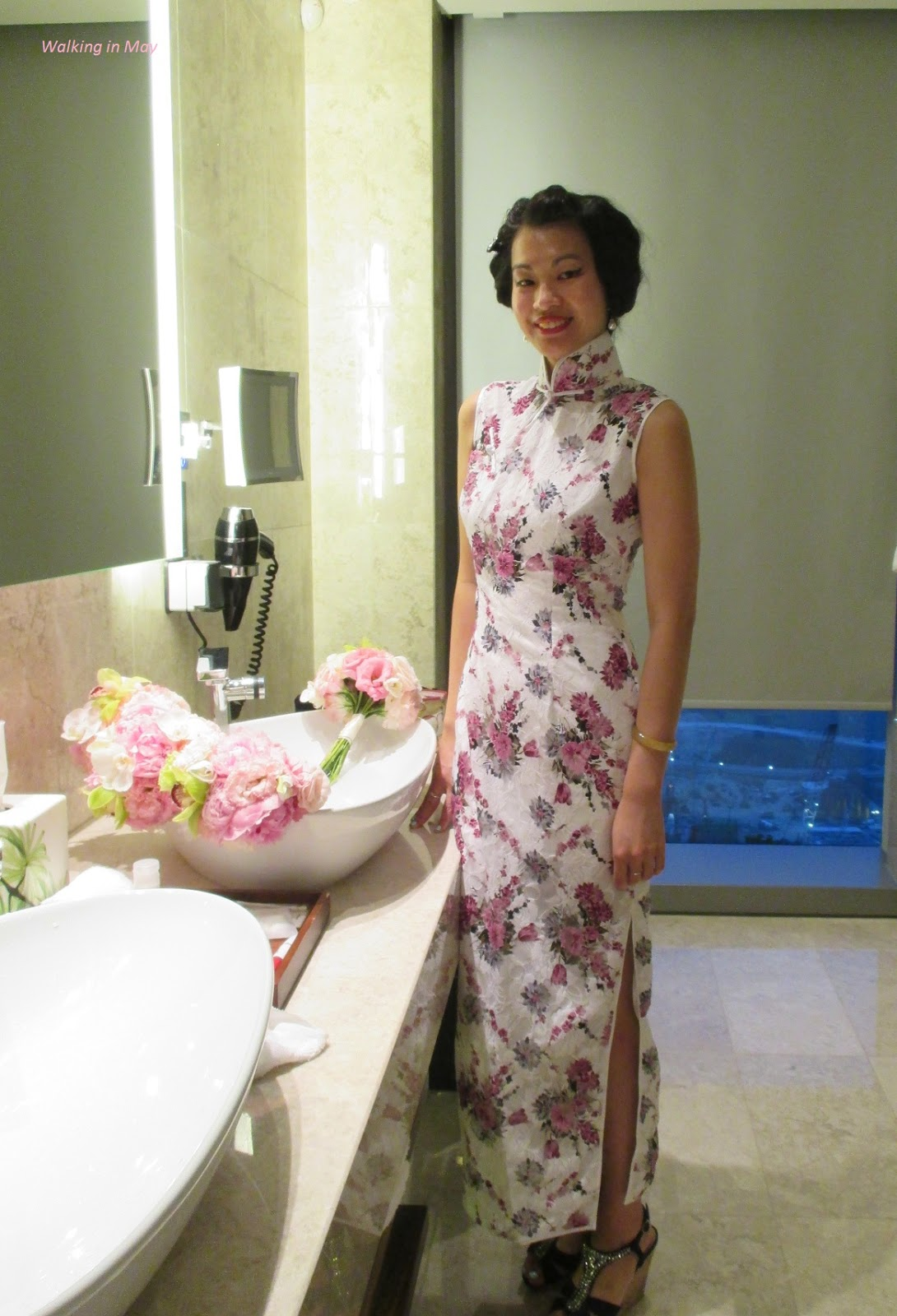 Qipao love part 27 wearing white to a chinese wedding banquet walking in may junglespirit Image collections