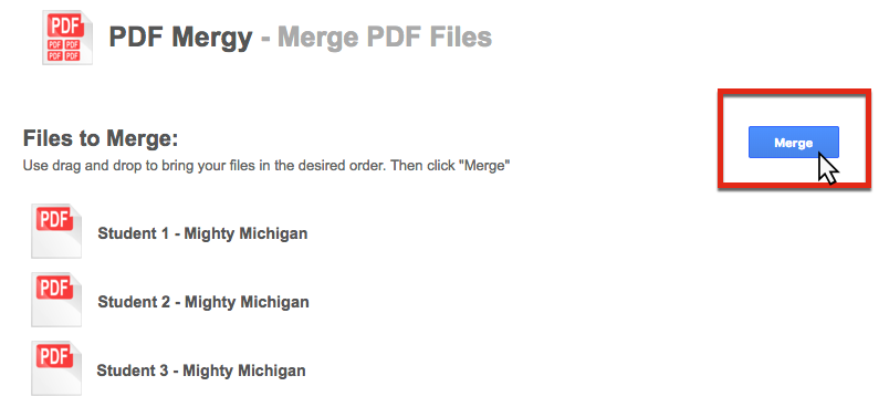how to merge pdf files in google drive
