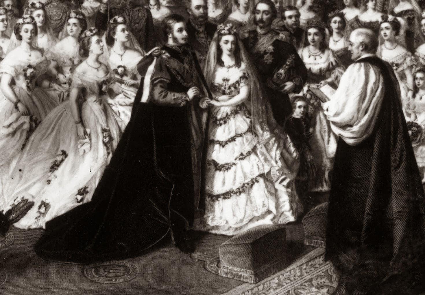 Wedding - Alexandra to Edward VII - Windsor 1863 | Glucksburg