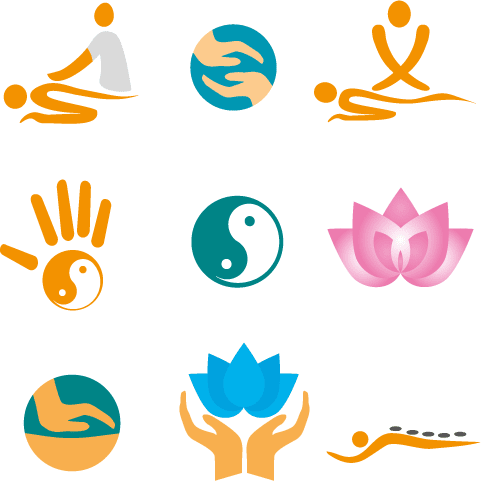 Logos de Yoga y spa - Vector