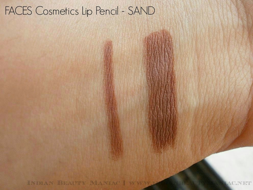 Faces Cosmetics Lip Pencil in Sand Swatch