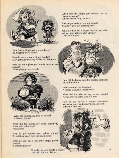 Daily Lazy 101 Hippie Jokes Sick Magazine 1968
