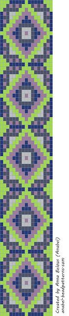 Схема браслета - станочное ткачество / гобеленовое плетение бисеропле тение