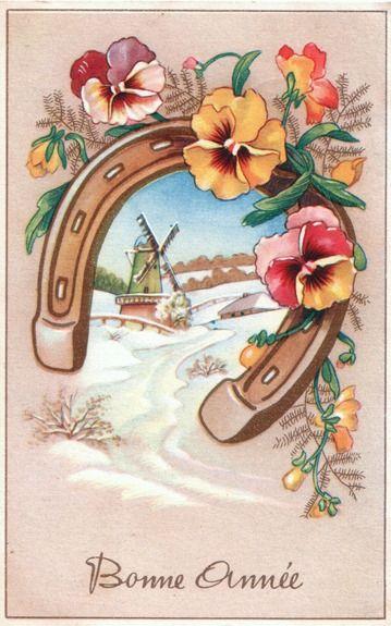 Cartes postales anciennes cartes postales anciennes bonne ann e des paysages - Belles images bonne annee ...