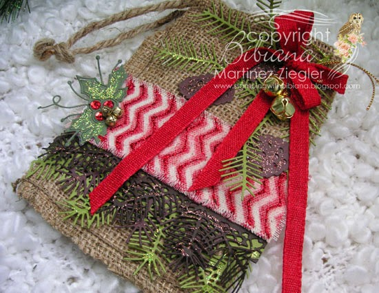 burlap bag flat view