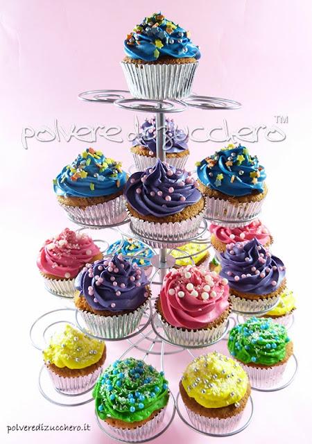 cupcakes con frosting polvere di zucchero