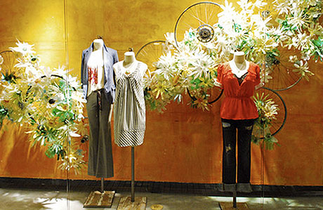 anthropologie spring window display