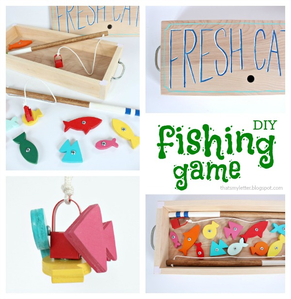 diy wood fishing game pieces