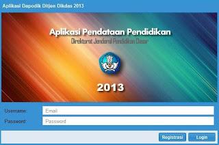 Aplikasi Dapodikdas 2013