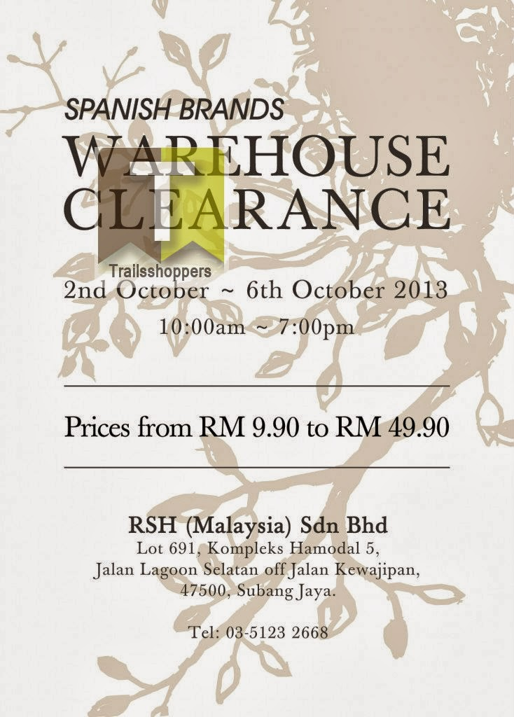 Spanish Brands Warehouse Clearance 2013